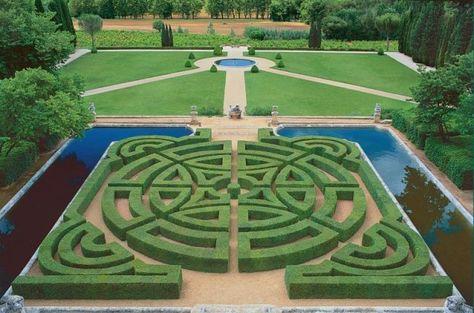 Parterre Chateau De La Gaude Francia Gartenhecke