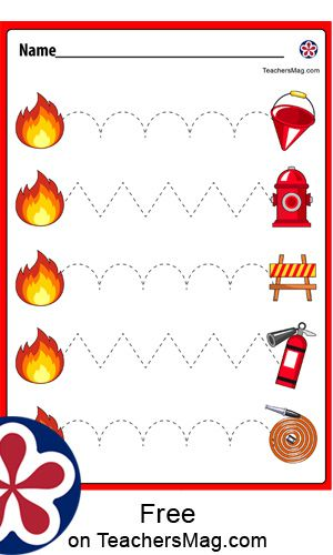 Fire Safety For Kids, Fire Safety Week, Preschool Fire Safety, Preschool Activities, Fire Safety Crafts, Child Safety, Fire Prevention Week, Community Helpers Preschool, Tracing Worksheets