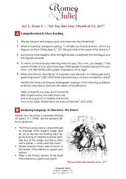 Pin On Teaching Shakespeare In Text Citation Paraphrase Romeo And Juliet