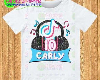 50 Pcs Tik Tok Balloonstik Tok Party Suppliesblack And Etsy Birthday Shirts Musical Theme Shirts