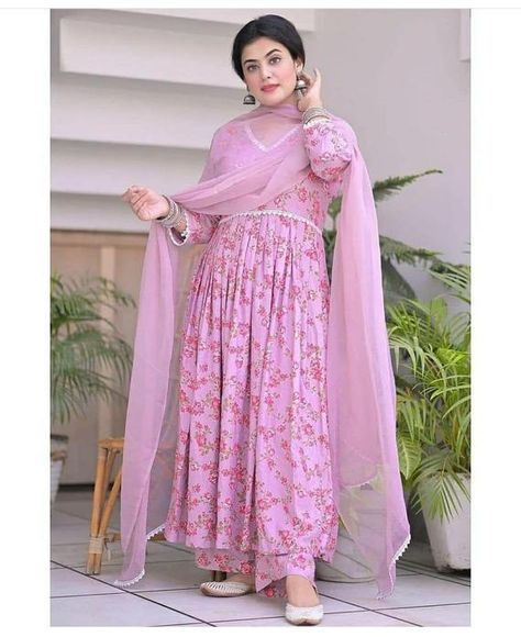 PRODUCT DESCRIPTION: Quality: 100 % Gauranteed Style: Salwar Kameez Work: Work Material: Rayon Stitched: Yes Full Stitched Color : Pink Neck: Round Neck Sleeves Type: 3/4 Sleeves Modified Item: No MPN: Does Not Apply Pattern: Gown with palazzo and Shiffon Length: Long Country of