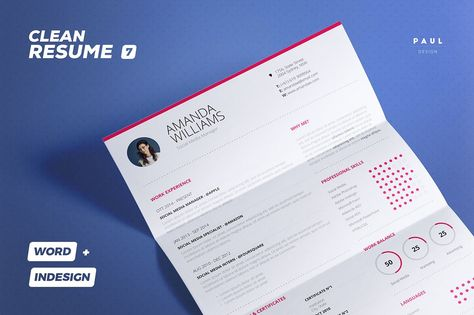 Resume / Cv - Clean Collection n7 by TheResumeCreator on @creativemarket