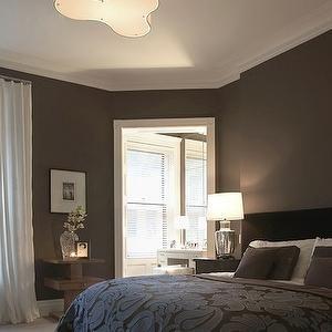 Dark Brown Bedroom Walls Transitional Bedroom Benjamin Moore - Bedroom with dark brown walls