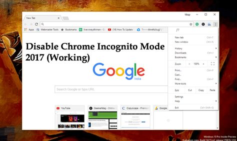 How To Disable Incognito Mode Of Chrome In Windows 10 2020 Incognito Windows Operating Systems Windows