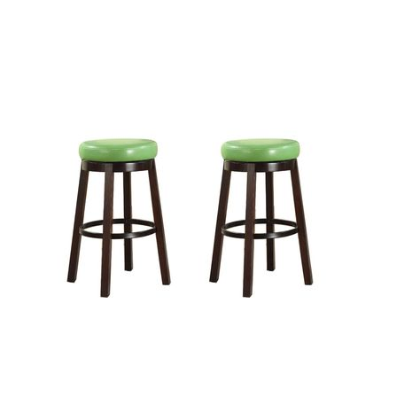 Adler 26-Inch Brown Leather Backless Counter Stool Set of 2