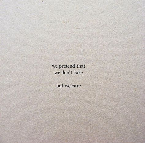 I hope u Care