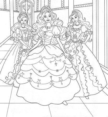 女の子向け お姫様 プリンセスの塗り絵 ぬりえ 無料画像テンプレート素材 ドレス Naver まとめ Barbie Coloring Pages Barbie Coloring Mermaid Coloring Pages