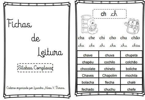 Fichas De Leitura Das Silabas Complexas 1 Com Imagens Silabas