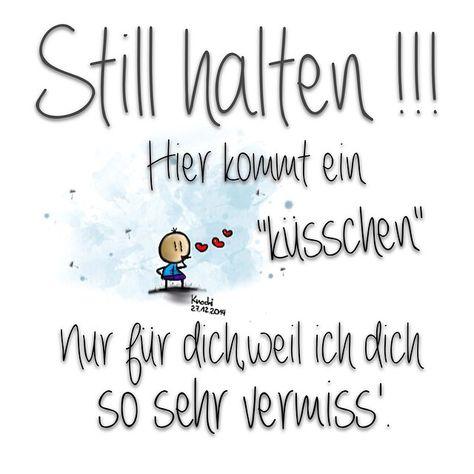 #still #halten !!!!  Hier kommt ein #küsschen  nur für dich,weil ich dich so sehr vermiss'.  - knochi_art