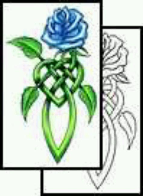 Celtic Rose Tattoo : celtic, tattoo, Celtic, Knotwork, Tattoo, Elegant