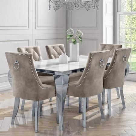 27+ Round mirrored dining table and chairs Trend