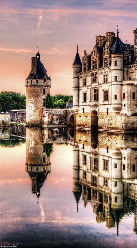 France Travel Inspiration - Evening At Chenonceau Castle- France -by Weston Westmoreland