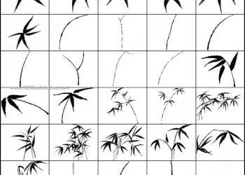 Bamboo Leaves Brush Photoshop In 2020 Sumi E Painting Chinese