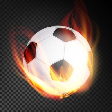 Football Ball Vector Realistic Football Soccer Ball In Burning Style Isolated On Transparent Background Football Ball Background Png And Vector With Transpar In 2020 Football Ball Soccer Ball Soccer Backgrounds