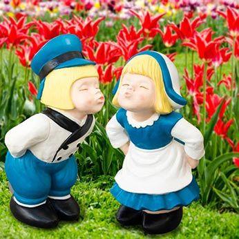 Home Decor Kissing Dutch Couple Statues Statue Dutch Boy Dutch People