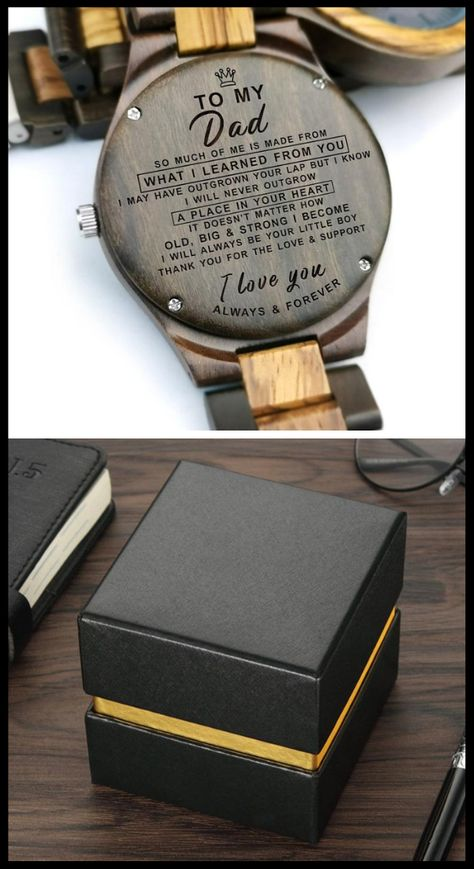 50% OFF plus FREE SHIPPING! #engravedwoodenwatch #woodenwatch #engravedwatch #giftideas #giftfordad #anniversary #birthday #graduation