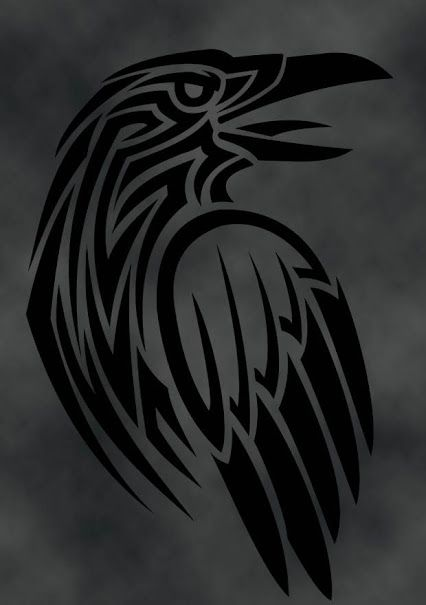 Celtic Crow Tattoo Meaning : celtic, tattoo, meaning, Chumani_on_tree, Raven, Crows, Tattoo,, Norse, Tattoo