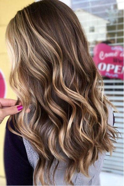 Beachy Highlights That Make Every Hair Color Look Perfectly Sunkissed Brown Blonde Hair Brown Hair With Blonde Highlights Hair Highlights