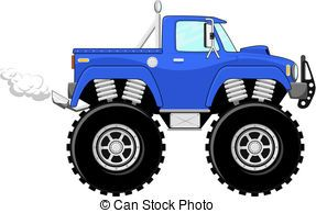 Cartoon Monster Truck Available Eps 10 Vector Formats Separated