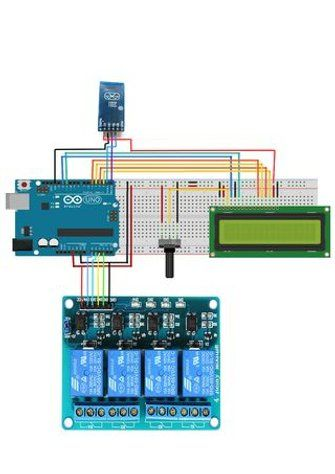 Home Automation With Arduino, Buttons ,LCD ,EEPROM AND Smart