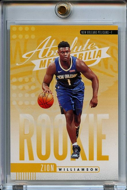 Zion Williamson 2019 20 Absolute Rookies Yellow 1 In 2020 Basketball Pictures Basketball Cards Zion