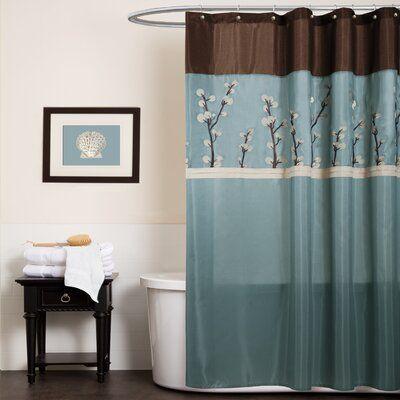 Alcott Hill Kozak Embroidered Single Shower Curtain In 2020