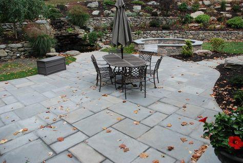 I like the look of slate paired with brick - patio-pavers-rockland-county-ny  | Patios,ports, pergolas & fire pits | Pinterest | Stone patios, Patio  ideas ... - I Like The Look Of Slate Paired With Brick - Patio-pavers-rockland