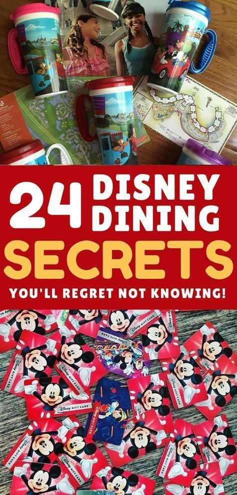 Don't leave for your Disney World vacation without checking out these Disney dining secrets that will save you time and money! #disneyworld #famlytravel