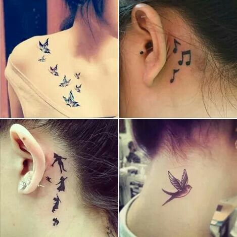 Most Popular Tattoos For Girls In 2020 Girl Neck Tattoos Side Neck Tattoo Neck Tattoos Women