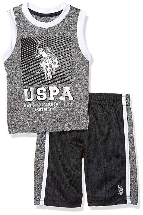 Boys Tank and Short Set Polo Assn U.S