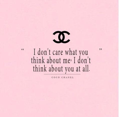 Nem érdekel mit gondolsz rólam. Egyáltalán nem gondolok rád