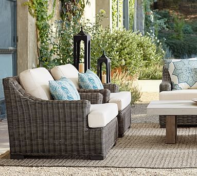 Super Huntington All Weather Wicker Slope Arm Occasional Chair Download Free Architecture Designs Lukepmadebymaigaardcom