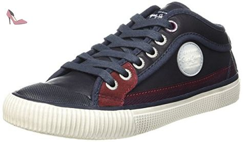 London Industry Blue Denim, Sneakers Basses Homme, Bleu (DK Denim), 44 EUPepe Jeans London