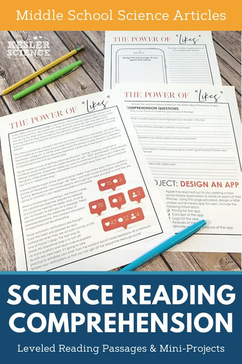 40 Science Reading Passages - Middle School Science