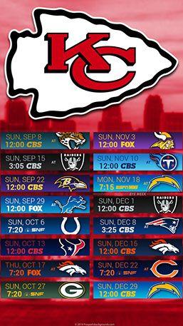 Kansas City Chiefs 2019 Mobile City Nfl Schedule Wallpaper Chiefs Wallpaper Kansas City Chiefs Chiefs Schedule