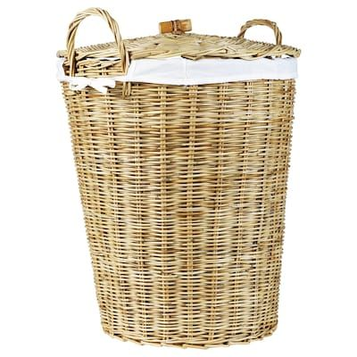 Laundry Basket With Lining Rattan 21 Gallon In 2020 Laundry