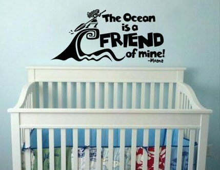 Inspired by Moana Wall Decal Sticker The Ocean Chose You