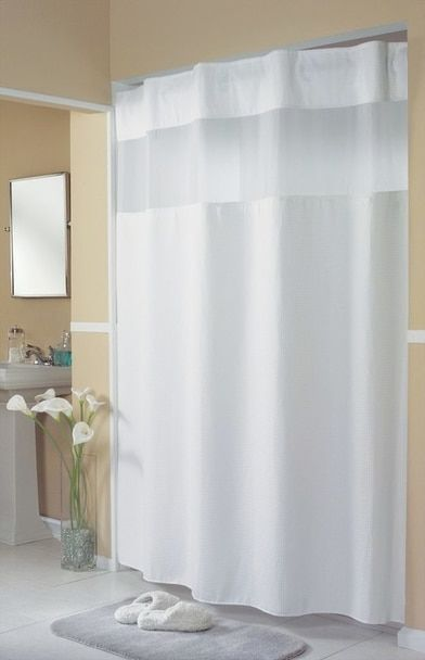 Mini Waffle Weave Hookless Shower Curtain In 2020 Gold Shower