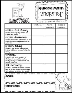 """Sarah's First Grade Snippets: Math """"Snapshot"""" Assessment for Addition freebie"""