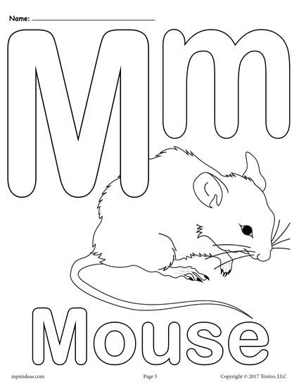 letter m coloring page # 4