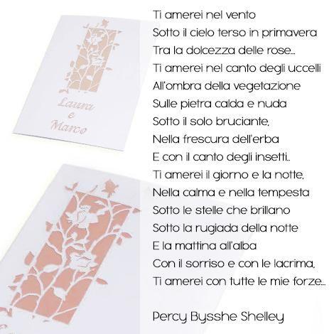 Il Fascino Tardo Romantico Del Poeta Inglese Shelly Per Un Libretto Di Matrimonio Di Classe Http Www Parteci Poesie D Amore Libretto Matrimonio Romantico