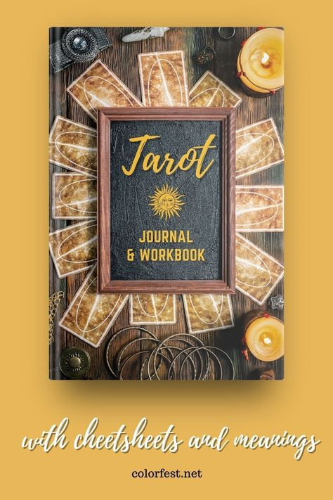 A practical notebook and journal for those new to tarot or in the early stages of their spiritual journey with tarot. You will find cheat sheets with card meanings, symbols, correspondences and more for the Major Arcana and Minor Arcana. There are also basic daily/weekly single card draw work sheets and three card spread reading record sheets. #tarotmeanings #tarotcheatsheets