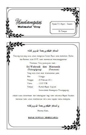 Free Template For All Undangan With Ms Word Simple And Easy To Use Undangan Walimatul Ursy Download Undangan S Undangan Pelajaran Komputer Kata Kata Indah