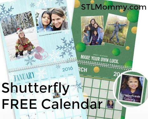 Shutterfly Free 8x11 12 Month Calendar Hot Deals