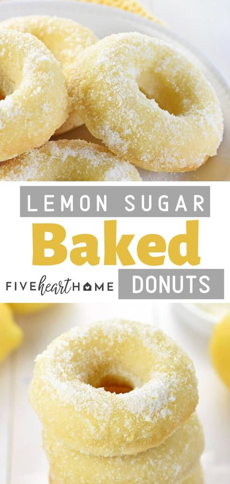 These are the perfect fall or holiday treat for your parties!These Lemon Sugar Baked Donuts are light, citrusy, and generously coated in a crunchy, lemon-zest infused sugar. They are the perfect breakfast or dessert treat for your dinner parties!