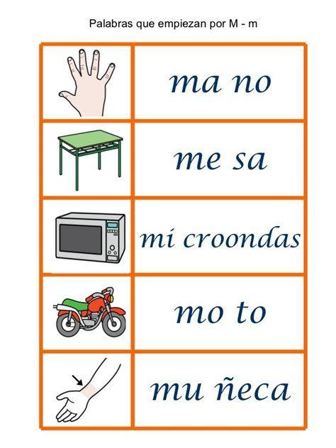 Aprendiendo A Leer 1er Grado Aprendo A Leer Silabario En 2020 Palabras Con M Silabas Actividades De Letras