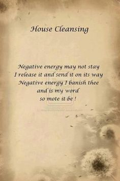House Cleansing - a little burning sage via smudge stick and send it on it's way