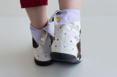 Shatter Pattern Canvas Tabi Boots with Tabi Socks Street Tabi Comfortable