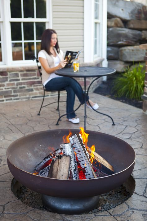 Ohio Flame Patriot Fire Pit with Natural Steel Finish