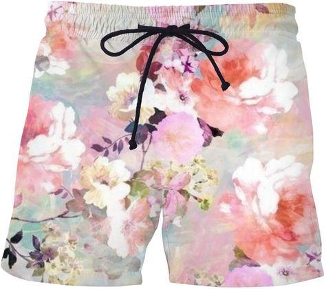 Mens Decor Love Mandala Printed Retro Beach Swim Trunk Summer Holiday